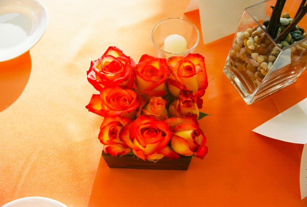 Table Flowers Point Of Grace Grand Opening